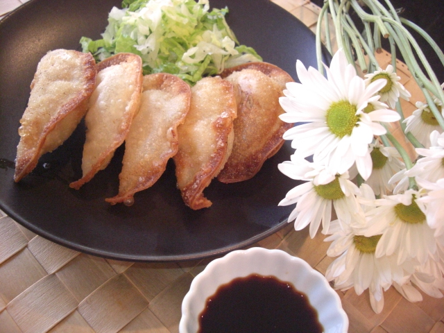 This recipe is for fried gyoza (dumplings). Many restaurants actually ...
