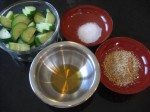Cucumber Sesame Salad Ingredients