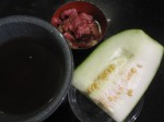 Preparation for winter melon and beef stew